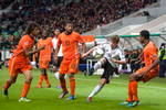 Maximilian Meyer of Germany is challanged by Tonny Trindade de Vilhena of Netherlands during the UEFA U-17 European Championship final match between Germany and the Netherlands at the SRC Stozice Stadium in Ljubljana, Slovenia, May 16, 2012.