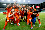 Team Netherlands celebrates winning the UEFA U-17 European Championship finals at the SRC Stozice Stadium in Ljubljana, Slovenia, May 16, 2012.