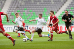 Marc Stendera of Germany leads the ball during the UEFA U-17 European Championship semi-final match between Germany and Poland at the SRC Stozice Stadium in Ljubljana, Slovenia, May 13, 2012.