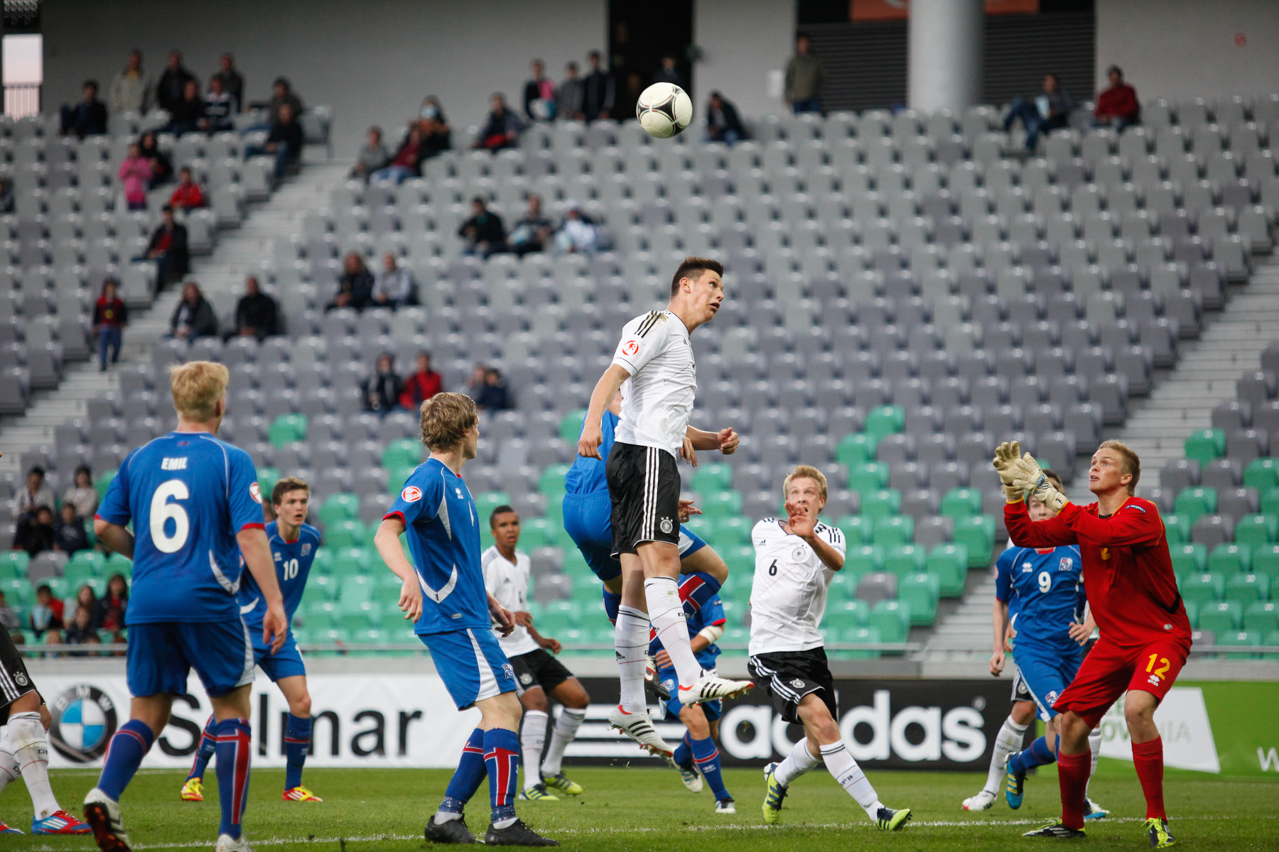 Niklas Suele of Germany during the UEFA U-17 European Championship final tournament group match between Germany and Iceland at the SRC Stozice Stadium in Ljubljana, Slovenia, May 7, 2012.