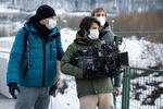 Režiser Marko Šantić in direktor fotografije Ivan Zadro na snemanju filma Zbudi me.---------------------------------------------Director Marko Šantić and Director of photography Ivan Zadro on the set of Wake Me.