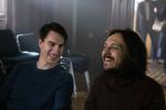 Jure Henigman in Blaž Setnikar na snemanju filma Zbudi me.-----------------------------------------------Actors Jure Henigman and Blaž Setnikar on the set of Wake Me.