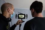 Režiser Marko Šantić in igralec Jure Henigman na snemanju filma Zbudi me.---------------------------------------------------------------Director Marko Šantić and lead actor Jure Henigman on the set of Wake Me.