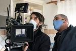 Direktor fotografije Ivan Zadro na snemanju filma Zbudi me.--------------------------------------------Director of photography Ivan Zadro on the set of Wake Me.