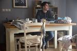 Jure Henigman med snemanjem prizora za film Zbudi me.------------------------------------------------------Actor Jure Henigman filming a scene for Wake Me.