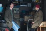 Jure Henigman in Timon Šturbej na snemanju filma Zbudi me.-----------------------------------------------Actors Timon Šturbej and Jure Henigman on the set of Wake Me.