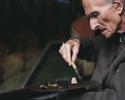 Suisse 1999. Balthus dans son atelier à Rossinière.