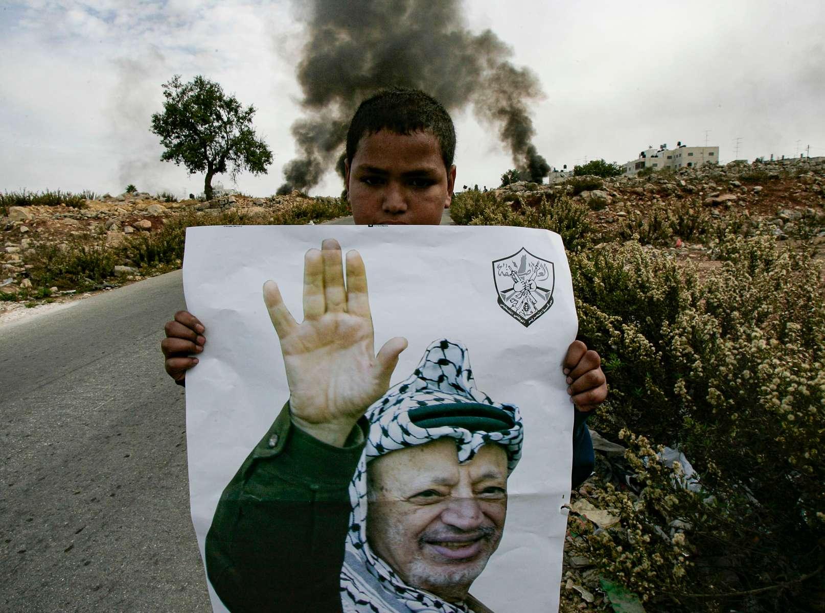 Le jour de l'annonce de la mort de yasser arafat a ramallah
