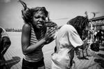 USA, septembre 2005. Après le passage de l'ouragan Katrina, l'évacuation du Superdome à la Nouvelle Orléans.USA, Septembre 2009. After Katrina, the evacuation of the Superdome in New Orléans.