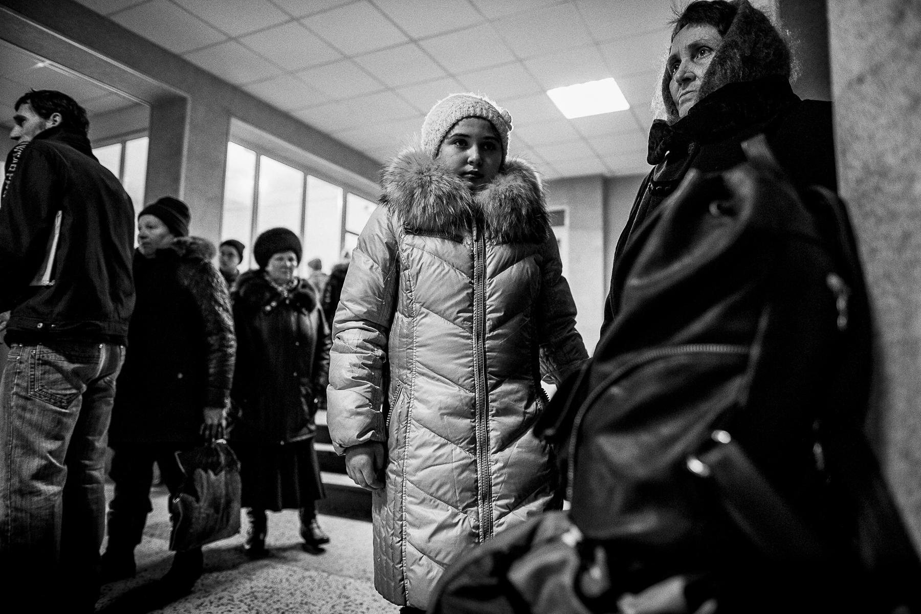 Réfugiés des alentours de Debaltsevo