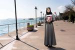 Hatice Cengiz la fiancée ddu journaliste saoudien Jamal Khashoggi, disparu et assassiné dans l'enceinte du consulat D'arabie Saoudite à Istanbul, sur les bords du Bosphore.