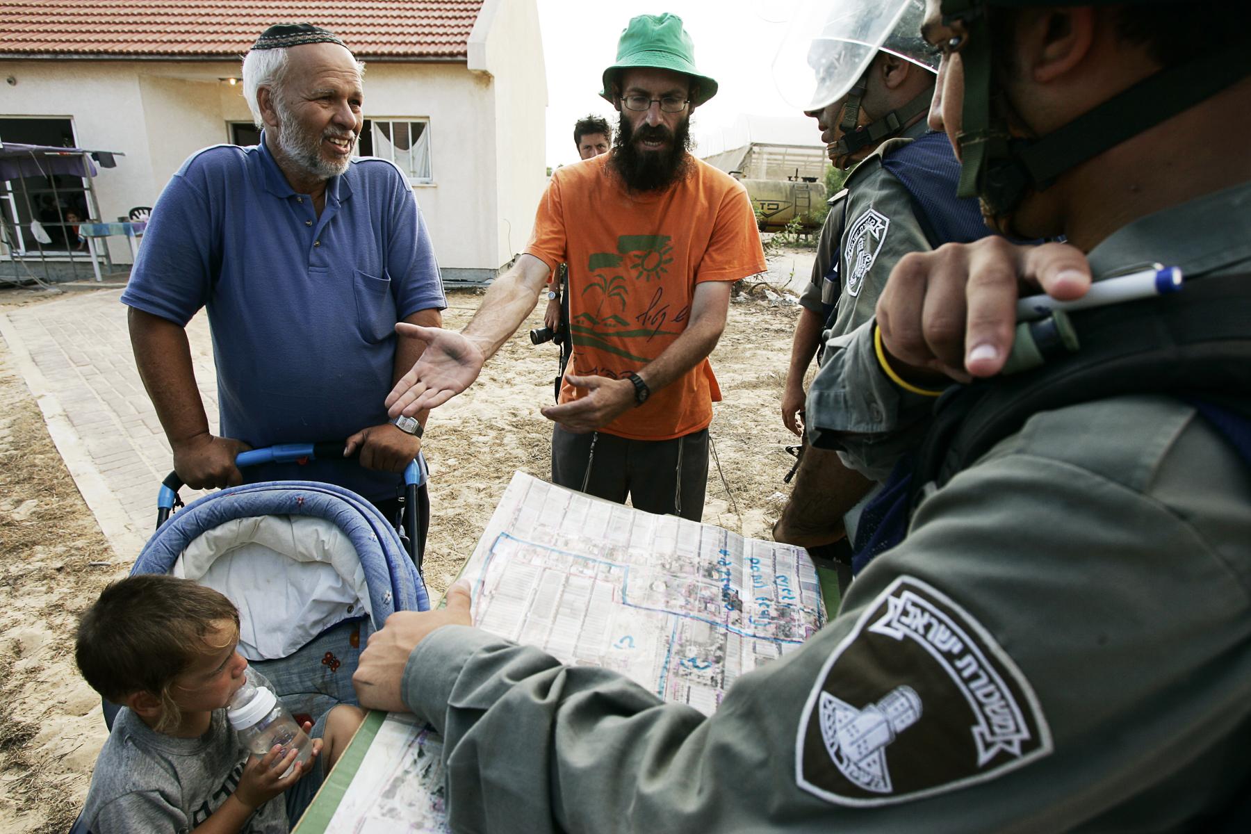 DÈpart de la colonie de Gadid a Gaza