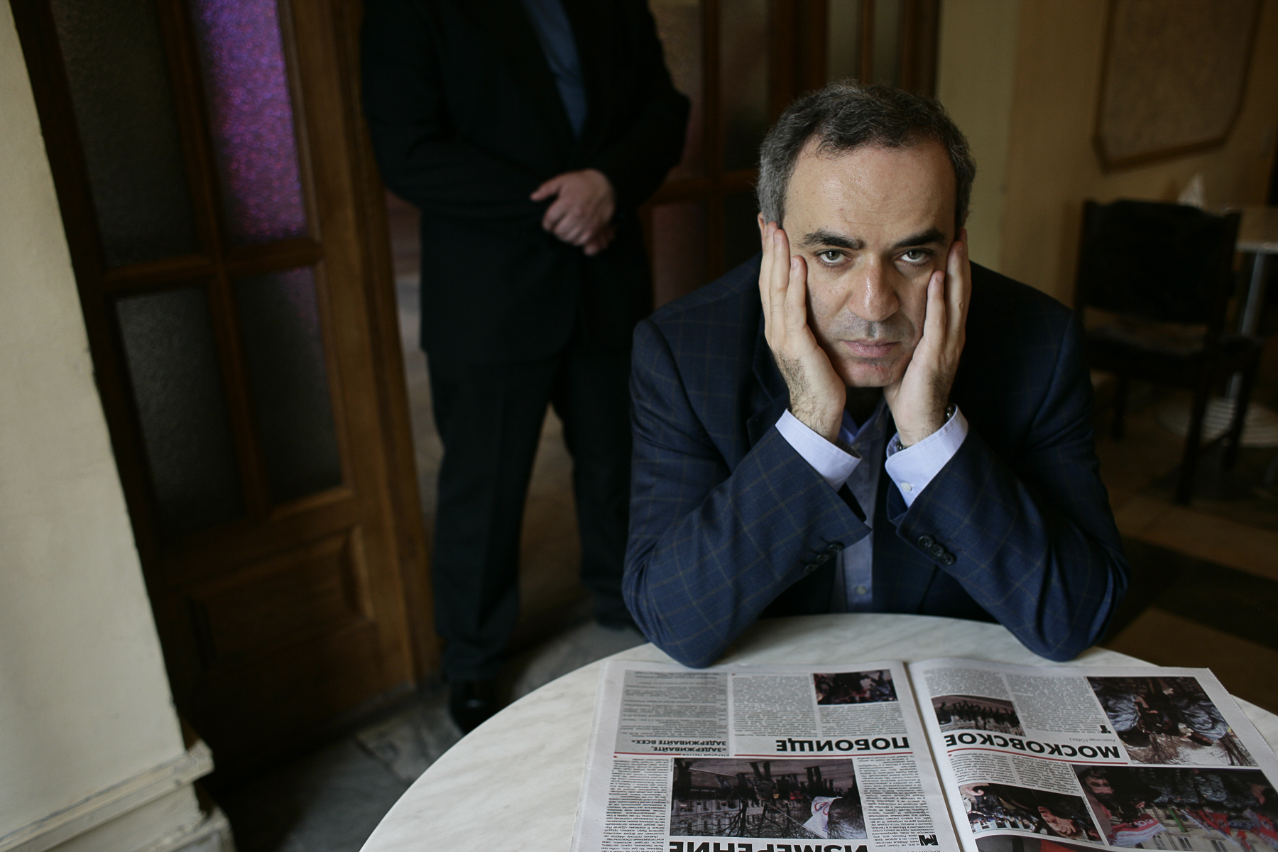 Russie mai 2007. Gary Kasparov à Moscou.Russia May 2007. Gary Kasparov in Moscow.