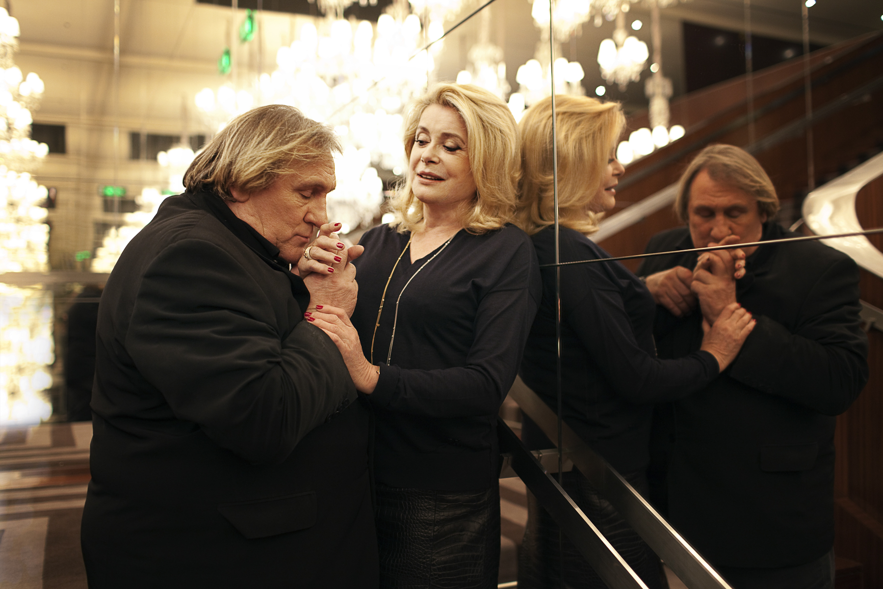 Paris octobre 2010. Catherine Deneuve et Gérard Depardieu.
