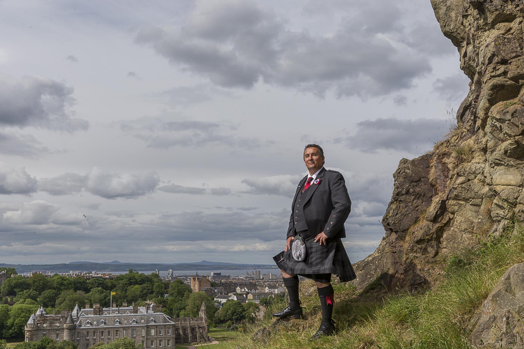 Ecosse, 2013. Christian Allard membre du Parlement Ecossais à Edimbourg.Scotland, 2013. MP Christian Allard in Edimbourg.