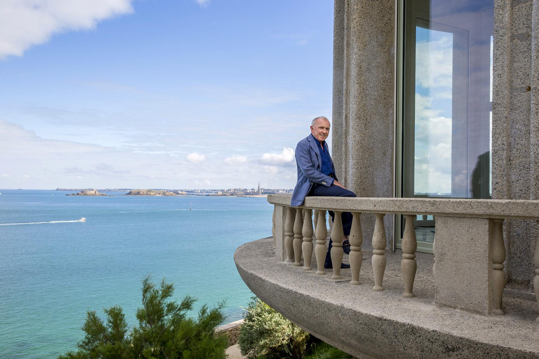 France, octobre 2013. François Pinault chez lui à Dinard.