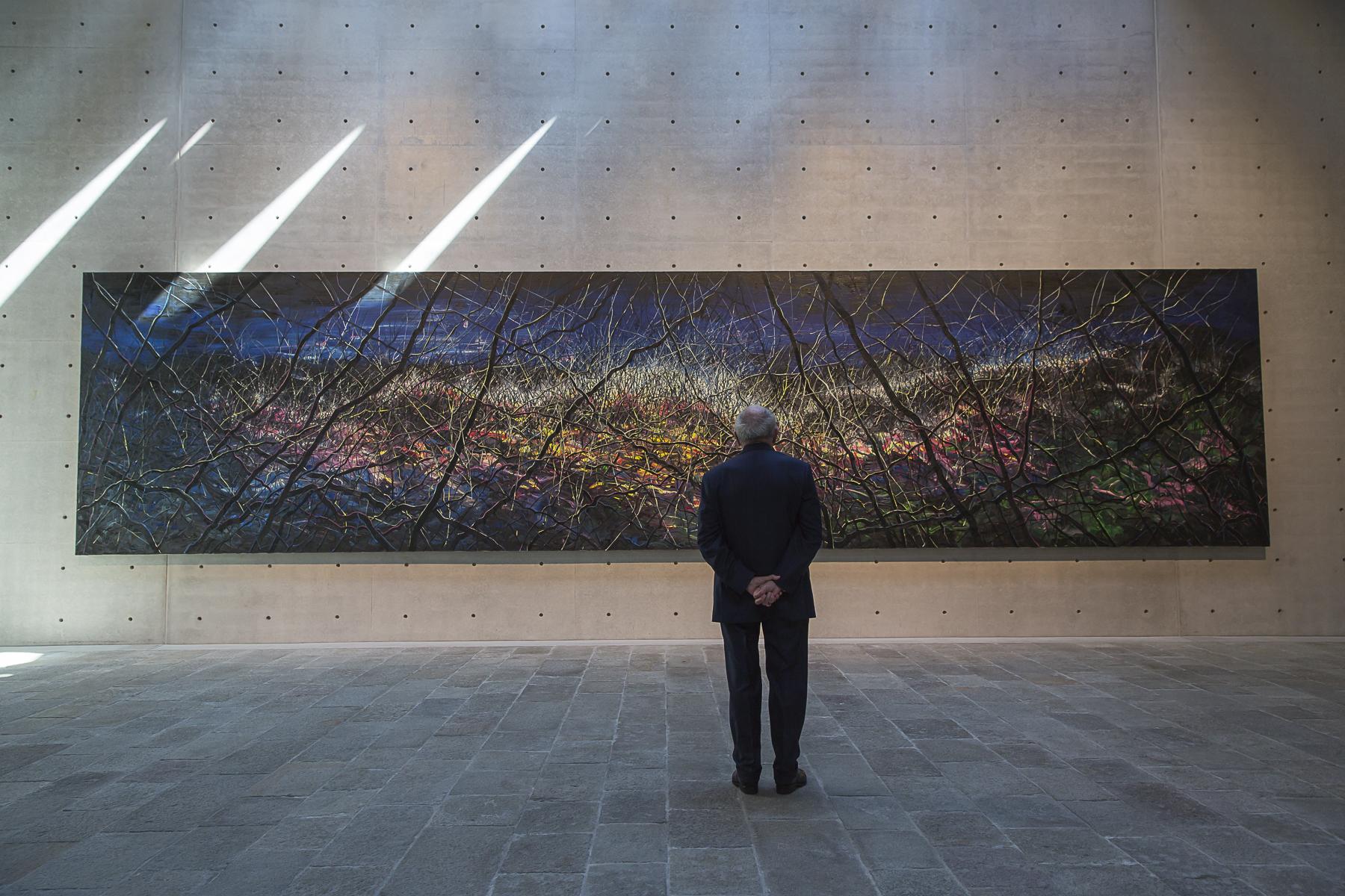 François Pinault à Venise au Palazzo Grazzi vient visiter les dernières installations