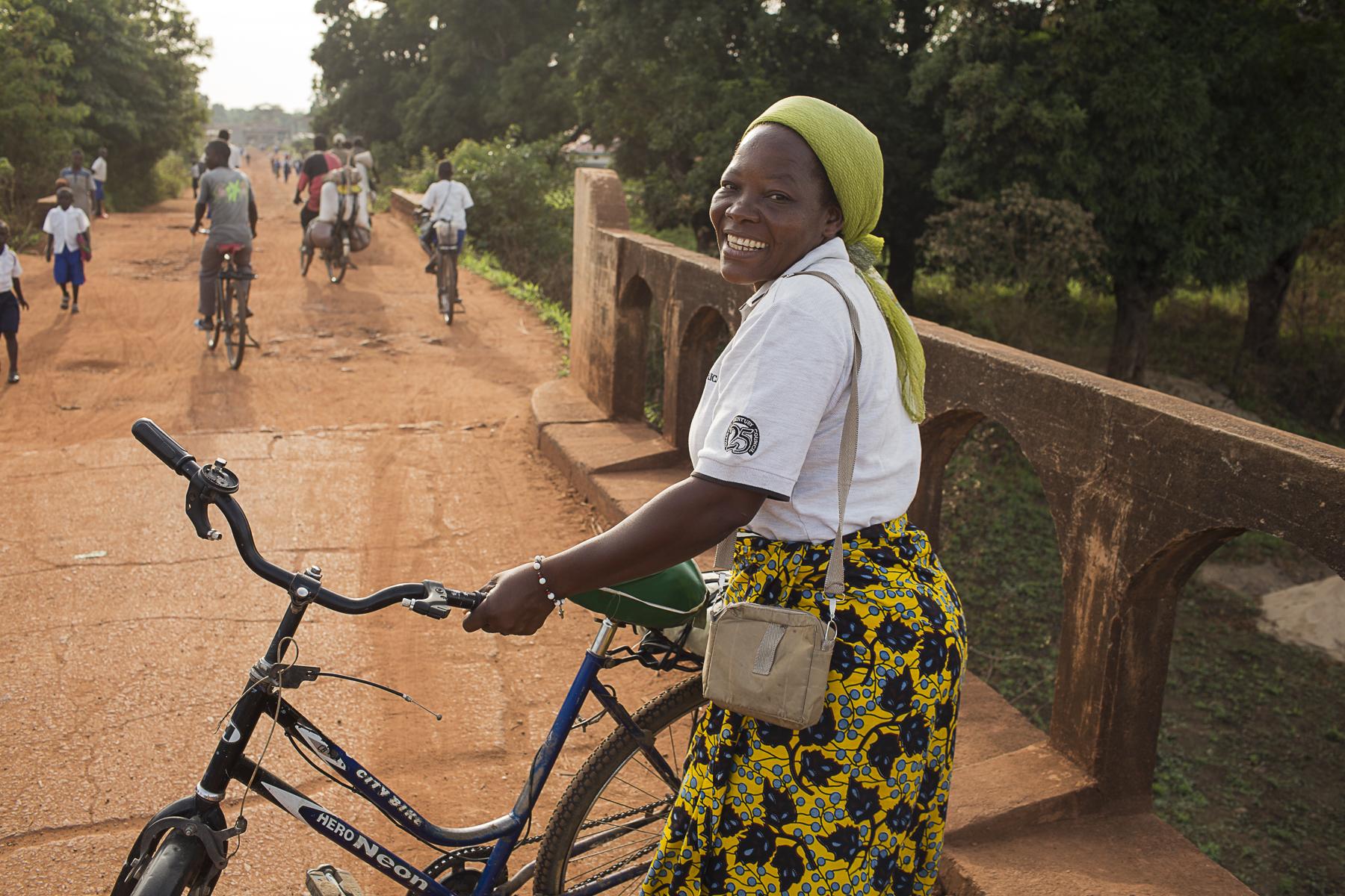 RDC, mai 2015.Soeur Angélique Namaika lauréate du Prix Nansel du Haut commissariat de L' ONU pour les réfugiés (lUNHCR) pour son action auprès des femmes du nord de la RDC et plus particulièrement les femmes et les enfants victimes des exactions de la LRA du tristement célèbre Joseph Kony.
