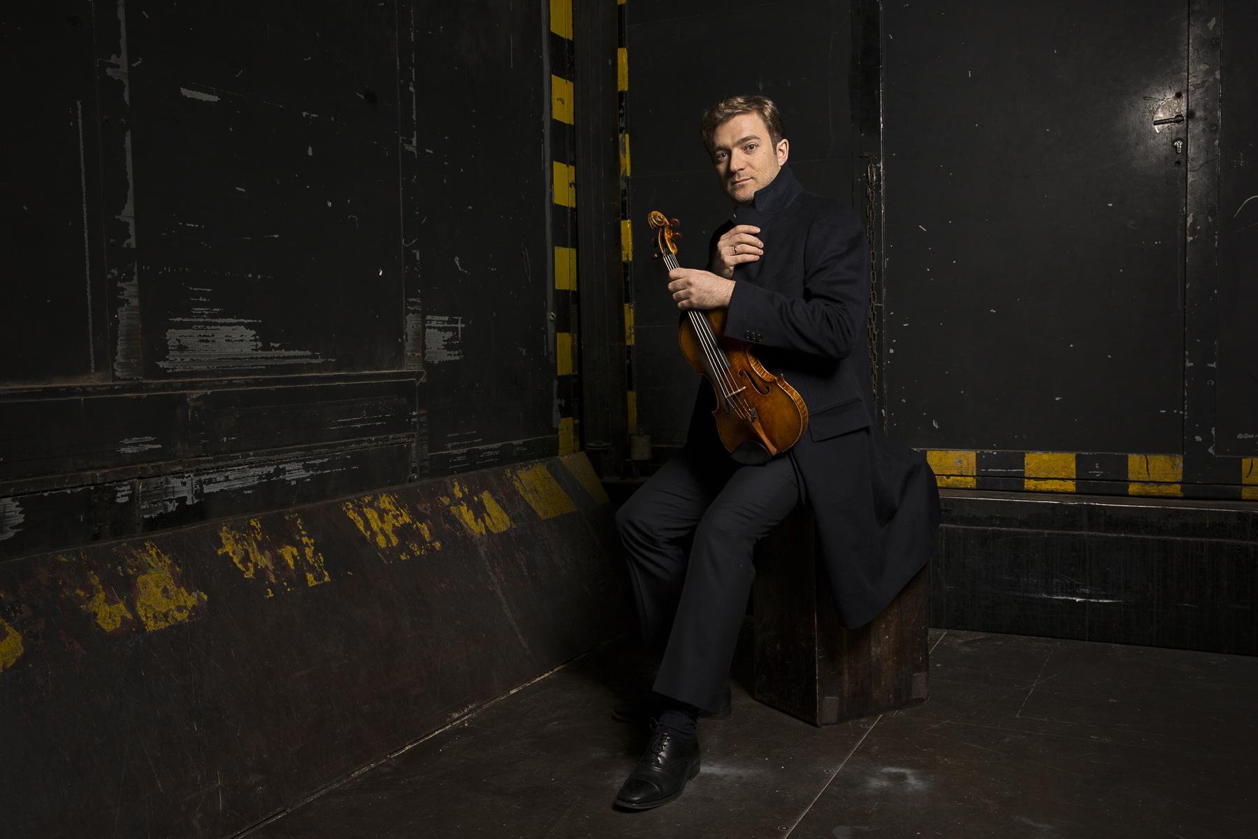 Paris, 2014. Le violoniste Renaud Capuçon.Paris, 2014. French violonist Renaud Capuçon.