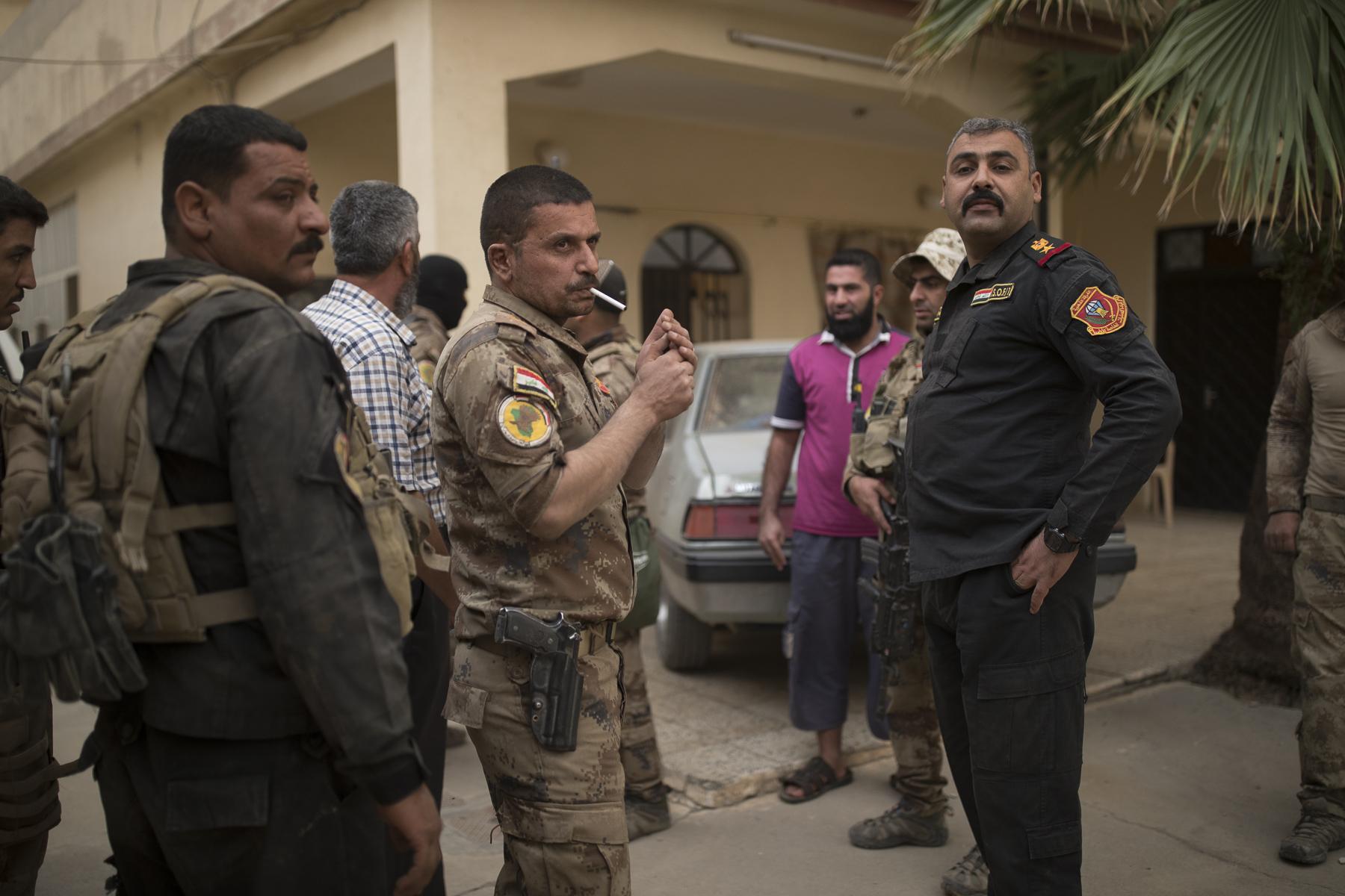 Prise de la ville de Gagjali par la Golden Division, nous suivons le First Bataillon du Colonel Mohanet. Des jihadites retranchés dans une maison sont tués par les hommes des forces spécials iraquienne, cadavre de djihadiste. Le Colonel Mohanet est acceuili ainsi que ses hommes en héros par la population qui a vécu sous l'emprise de Daech pendant 3 ans. Bléssés.......
