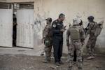 Mercredi 2 Novembre, Le bataillon 1 du ICTS du Colonel Mohanet sécurise le quartier de Gagjali, dans Mossul. Ils découvrent des armes de Daech dans une voiture, arrêtent des personnes suspectés d'appartenir à Daech, quand nous sommes pris à parti par des tireurs embusqués, leur traque se termine dans les tranchées à la limite de la ville, tous les djahidistes sont tués, à la grenade et au fusil d'assaults. Des réfugiés des quartier plus à l'ouest affluent vers les lignes de l'armée iraquienne (Golden Division), et visite des généraux en première ligne. Interrogatoir d'un homme suspecté d'être un artificié de Daech.Photos prisent le 2 Novembre 2016 et non le premier comme indiqué dans les champs IPTCQUELQUES IMAGES EN PLUS POUR LE WEB SURTOUT METTEZ DES IMAGES DU COLONEL MOHANED(AVEC MOUSTACHE) C'EST LE COMMANDANT DE NOTRE BATAILLON,IL SERA CONTENT DE SE VOIR DANS UN MEDIA ETRANGER...........