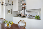 NYC open kitchen dining area