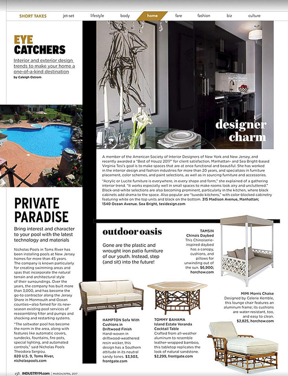 Home Section: {quote} Designer Charm{quote} Virginia Tesi Design Inc. shares design ideas for petite spaces. Industry Magazine - Home & Design 2017 Edition