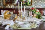 pink and green table setting in rumson new jersey