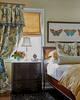 frette yellow bedding and custom soft flat roman shade in rumson nj