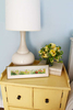 yellow nightstands