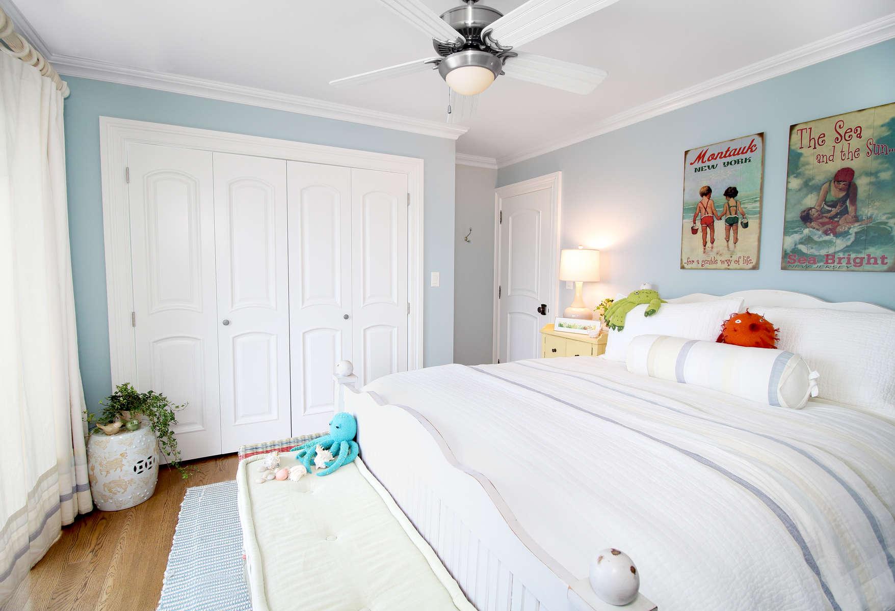 beach house light blue bedroom