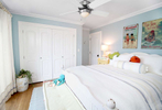 beach house light blue bedroom