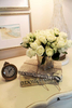 bedside table vignette