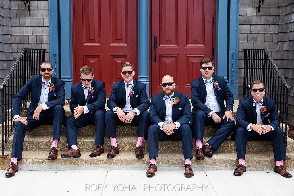 hot pink groomsmen socks