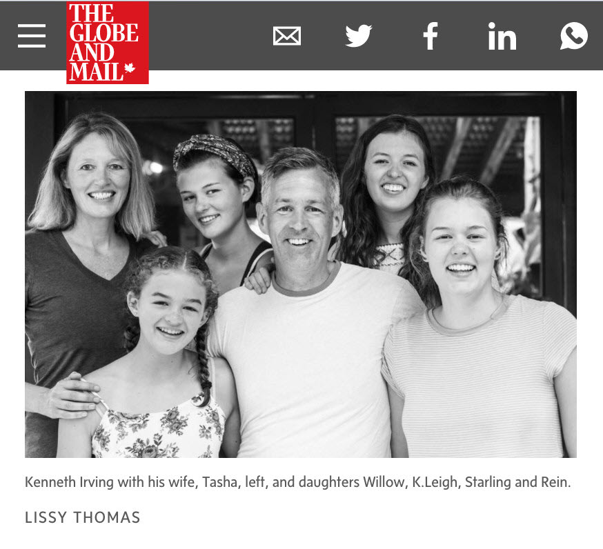 Irving family's fortunate son explains how he fell into a dark depression, and rose again.Irving family photo - credit Lissy ThomasClick to read the entire article.