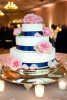 Navy and pink wedding, Detroit Michigan.