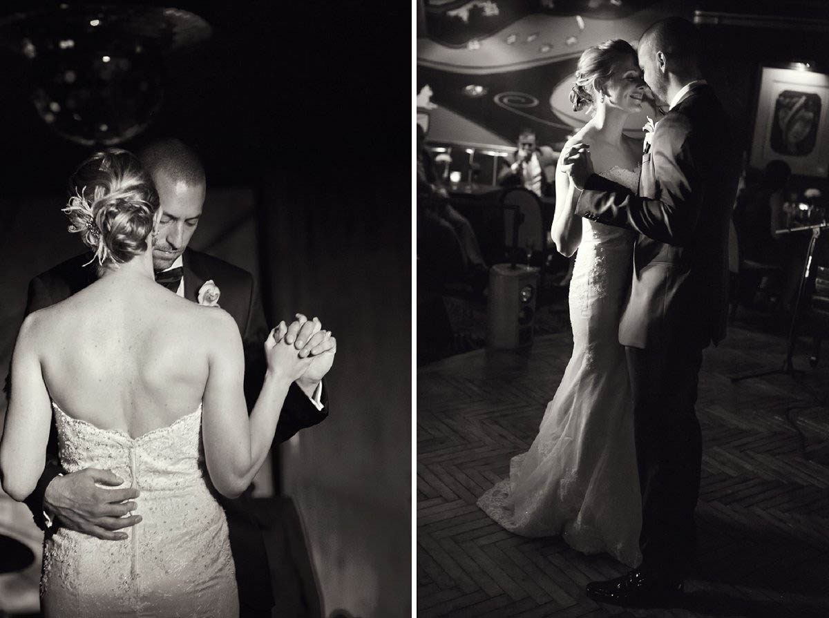 Bride and groom's first dance at Cliff Bell's in Detroit Michigan.