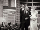 Rooftop wedding in Detroit, Michigan.