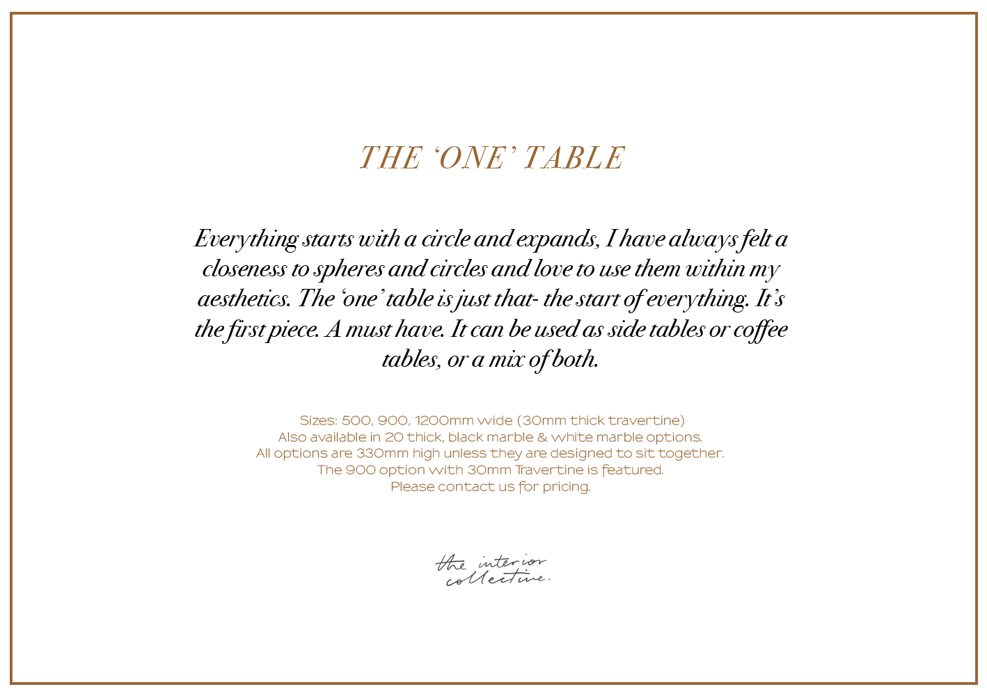 THE-ONE-TABLE_INFO