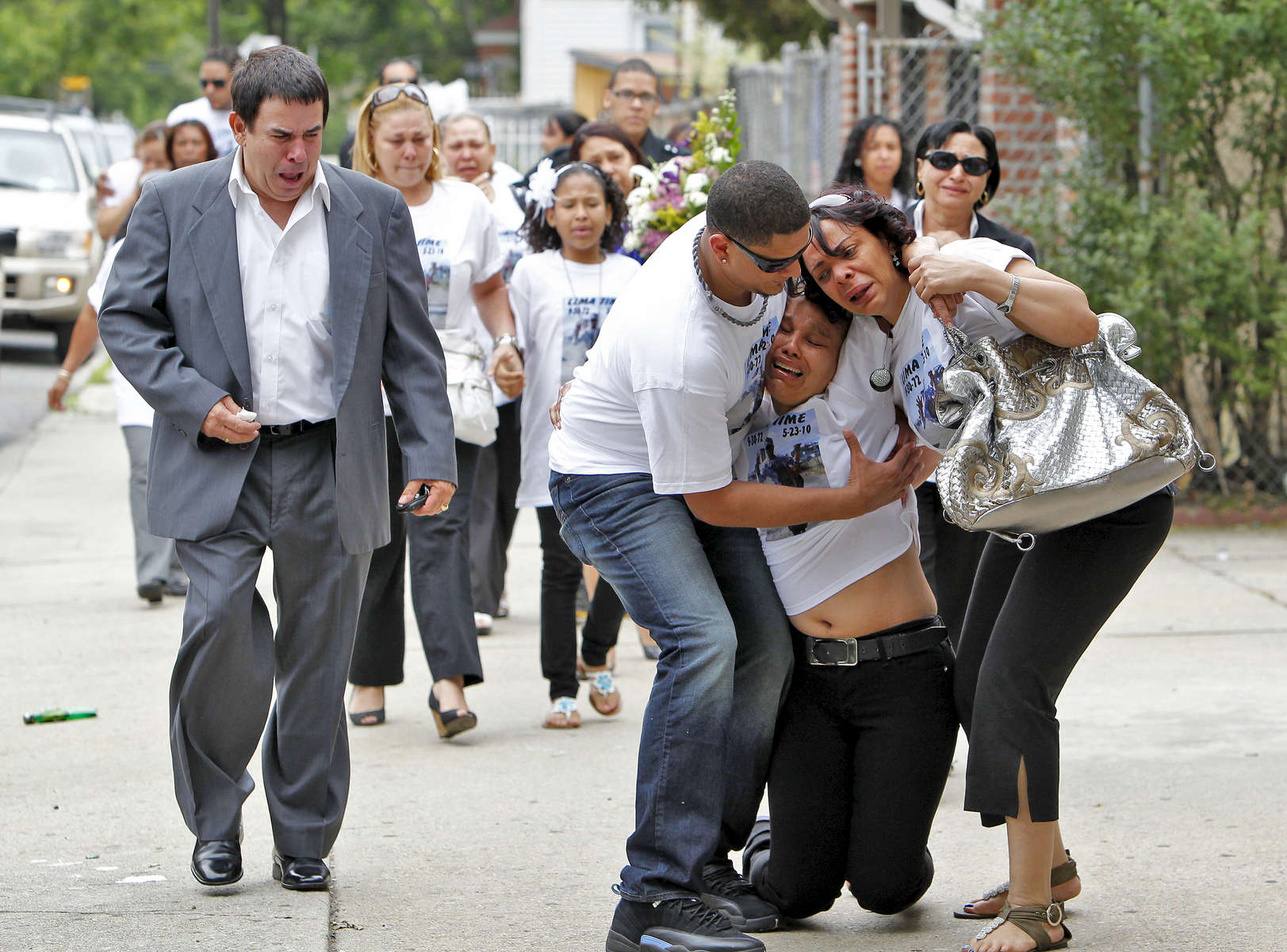 Janet Lima (sister of Jose Lima) collapsed at Jose Lima's wake held in Coppola-Migliore Inc. Funeral Home located at 49-01 104th Street in Corona, Queens on Friday, May 28, 2010.