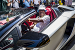 Actor/Comedian Tracy Morgan drives his Lamborghini Convertible along 6th Avenue and West 48th Street in Manhattan on Thursday, May 24, 2018.