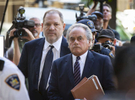 Former American film producer Harvey Weinstein, accused of two counts of rape and one first-degree criminal sex act, arrives with his lawyer Benjamin Brafman before pleading not guilty inside Manhattan Criminal Court in New York City on Tuesday, June 5, 2018.