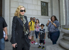 Pop icon Madonna leaves Manhattan Supreme Court at 60 Center Street in Manhattan after attending jury duty on Monday, July 7, 2014.