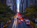 Motorist drive along 42nd Street during morning rush hour in Manhattan on Thursday, October 26, 2017.