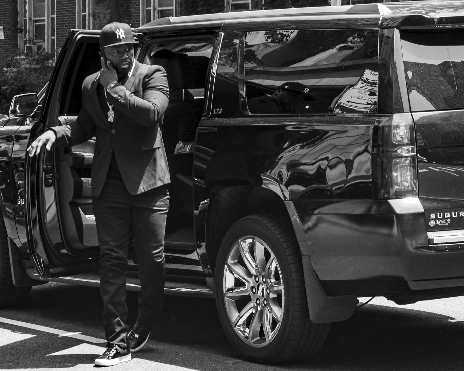Hip-hop superstar Curtis Jackson, aka 50 Cent, joined other celebrities and musicians who had come to pay respect at the funeral of legendary rapper Prodigy at the Frank E. Campbell Funeral Chapel in New York on June 29, 2017.