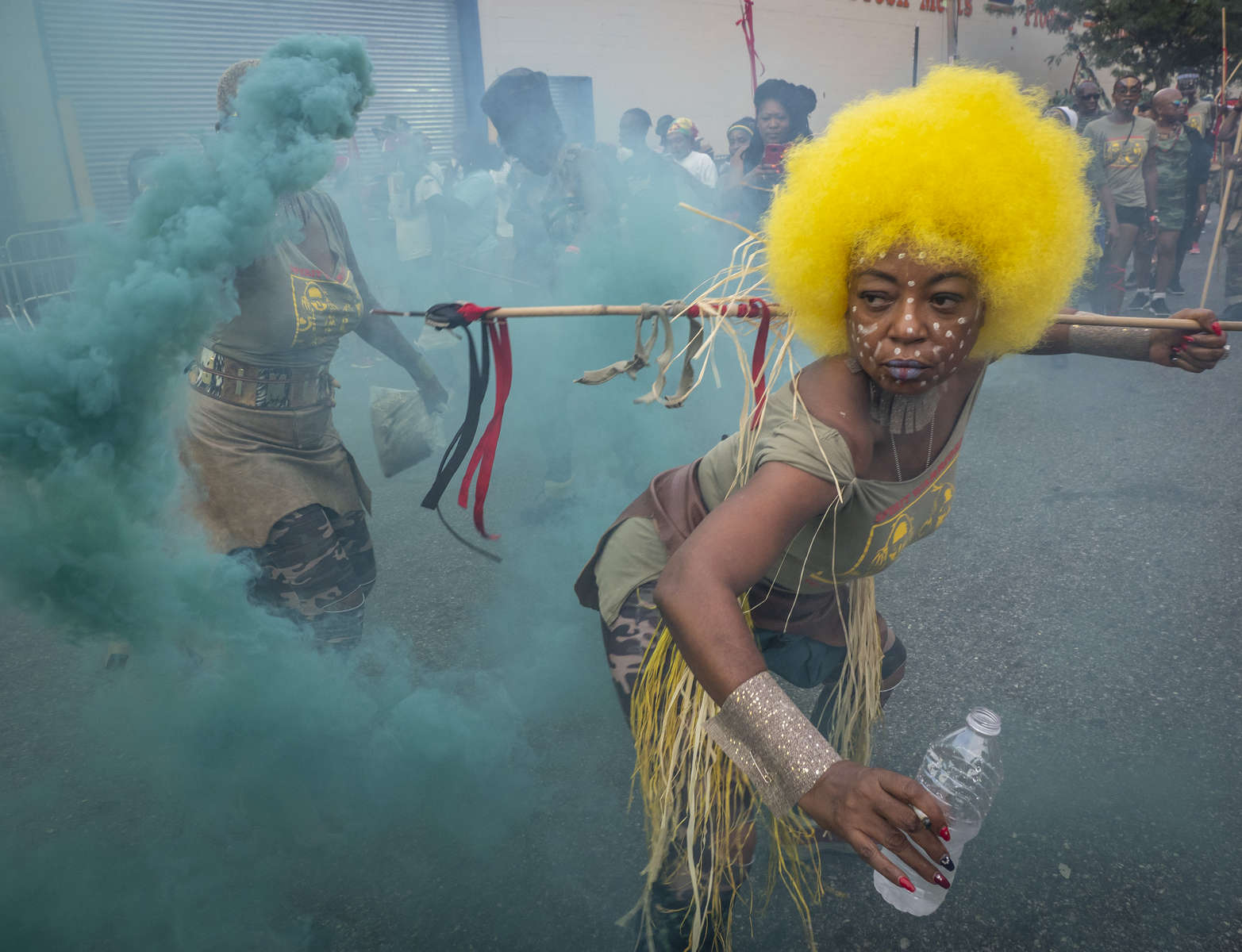 New Yorkers march at the annual J'Ouvert Parade held in Crown Heights, Brooklyn on Monday, September 3, 2018. The pre-dawn festival of J'Ouvert that translates to {quote}day break{quote} is celebrated by people of West Indian decent to mark the start of the Caribbean carnival celebrations.