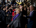 Democratic Presidential Candidate Hillary Clinton was joined by husband former President Bill Clinton after delivering her concession speech inside The New Yorker Hotel located at 481 8th Avenue in Manhattan on Wednesday, November 9, 2016.