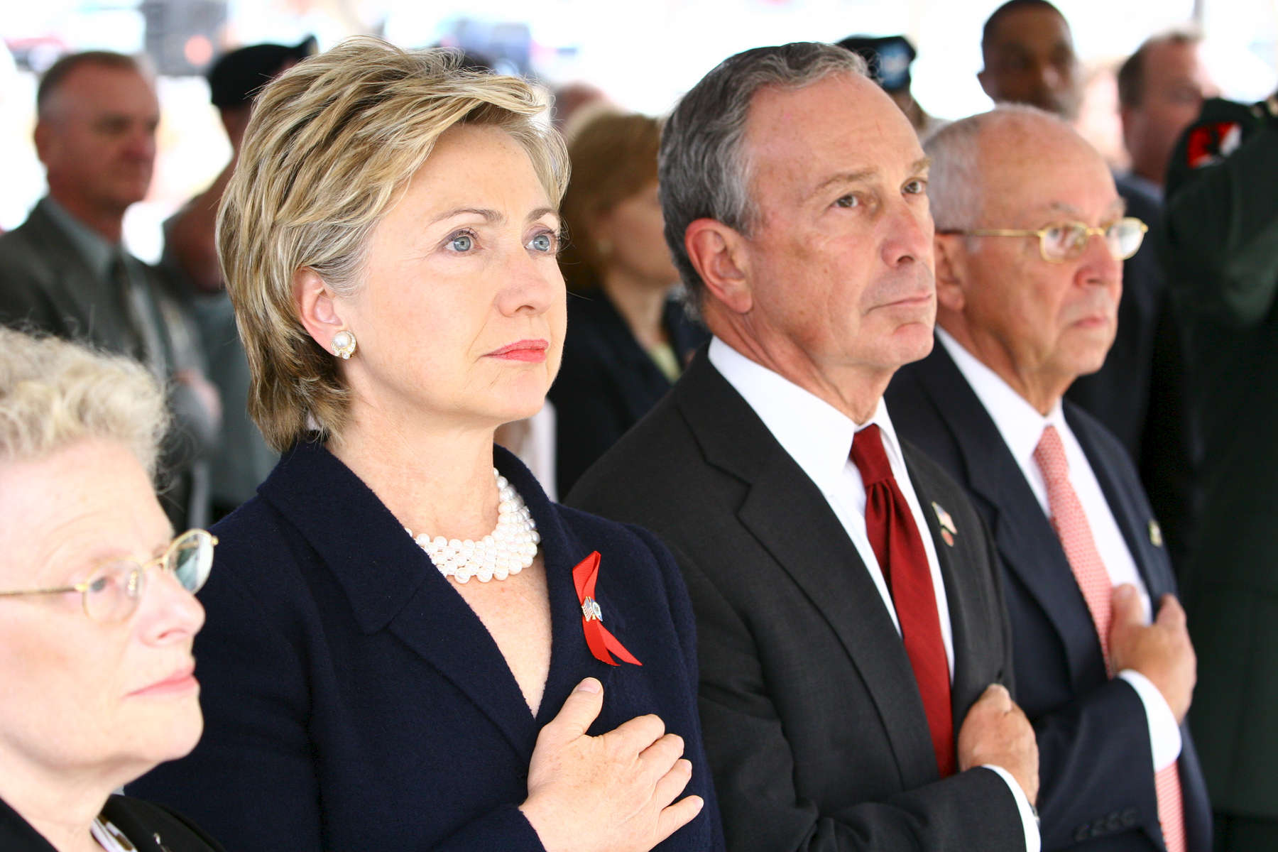 Senator Hillary Rodham Clinton and Mayor Michael Bloomberg  attended  the Fort Hamilton Army Garrison Residential Communities Initiative ribbon cutting ceremony in Fort Hamilton Reservation in Brooklyn on Monday September 26, 2005.