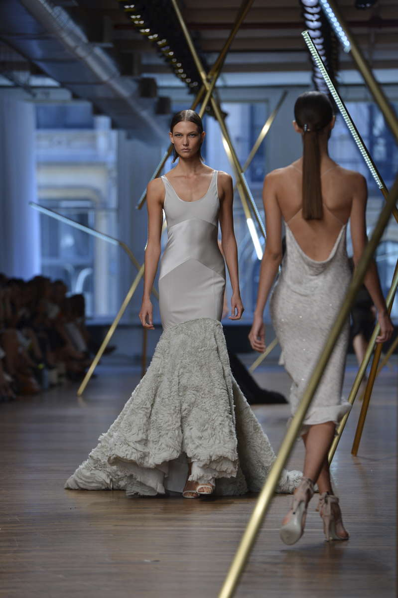 Karlie Kloss walks the Jason Wu fashion show at 82 Mercer St, for New York Fashion Week Fall 2013