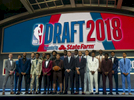 First round draft pick players pose for photos at the 2018 NBA Draft held in Barclays Center located at 620 Atlantic Avenue in Brooklyn, New York on Thursday, June 21, 2018.